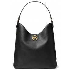 Kabelka Michael Kors Bowery large leather shoulder bag black černá