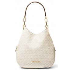 Michael Kors kabelka Lillie large logo shoulder bag vanilla