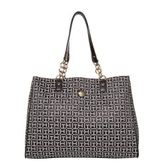Kabelka Tommy Hilfiger In Chains large tote black white