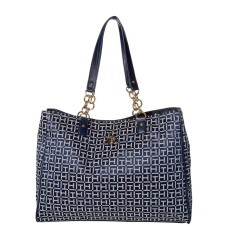 Kabelka Tommy Hilfiger In Chains large tote navy white