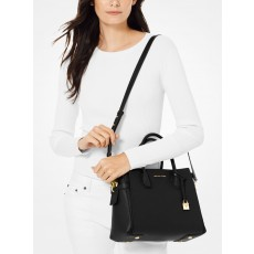 Michael Kors Mercer medium pebble leather kabelka černá