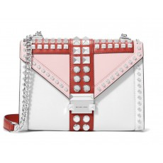 Kabelka Michael Kors Whitney large studded tri color red/pink/white