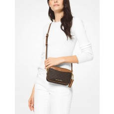 Michael Kors covertible logo crossbody ledvinka hnědá 2 v 1