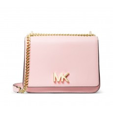 Kabelka Michael Kors Mott large leather shoulder bag powder blush růžová