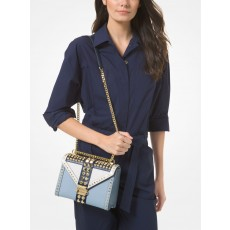 Kabelka Michael Kors Whitney large studded tri color blue combo
