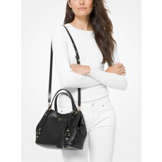 Michael Kors Carrie medium pebble leather kabelka černá