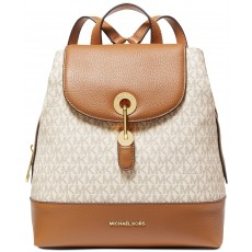 Michael Kors batoh Raven medium logo pebble leather vanilla