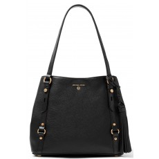 Kabelka Michael Kors Carrie large pebble leather black/gold černá