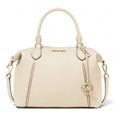 Michael Kors Lenox large pebbled leather kabelka cream