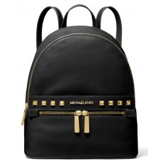Michael Kors batoh Kenly medium studded pebbled leather černý