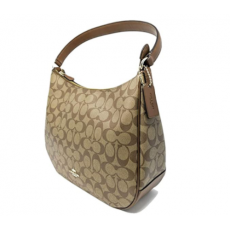 Coach kabelka hobo signature khaki saddle F29209