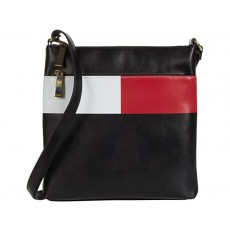 Tommy Hilfiger Sirina large crossbody flag smooth černá