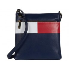 Tommy Hilfiger Sirina large crossbody flag smooth modrá