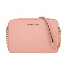 Michael Kors jet set large crossbody leather pale pink