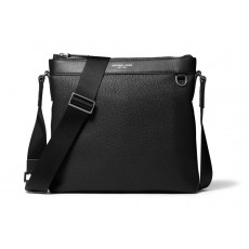 Michael Kors mens pánský messenger Greyson pebbled leather černý