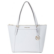 Michael Kors Ciara large saffiano leather optic white bílá