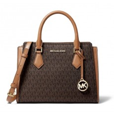 Michael Kors Hope medium messenger logo brown