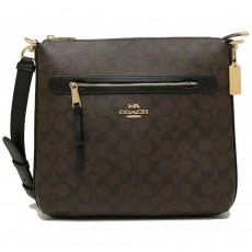 Coach crossbody kabelka Mae logo brown