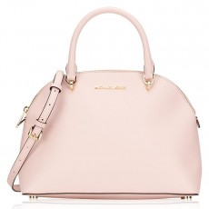 Michael Kors kabelka Emmy large dome leather blossom růžová