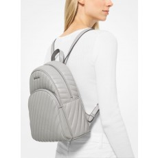 Michael Kors batoh Abbey medium quilted leather aluminium