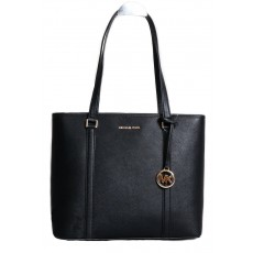 Michael Kors kožená kabelka Sady medium top zip black