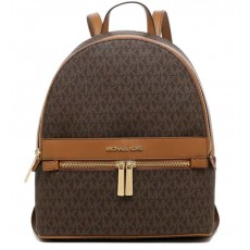 Michael Kors batoh Kenly medium logo brown
