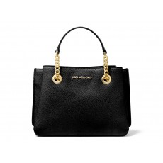 Michael Kors kabelka Teagen small pebbled leather messenger black
