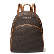 Michael Kors batoh Abbey medium logo brown acorn