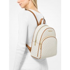 Michael Kors batoh Abbey medium logo vanilla
