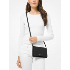 Michael Kors saffiano leather crossbody convertible černá