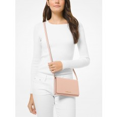 Michael Kors saffiano leather crossbody convertible ballet růžová