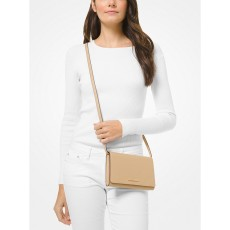 Michael Kors saffiano leather crossbody convertible bisque