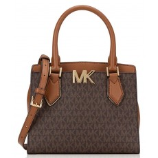 Kabelka Michael Kors Mott medium messenger logo brown hnědá