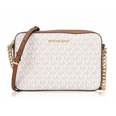 Michael Kors jet set large crossbody vanilla/acorn