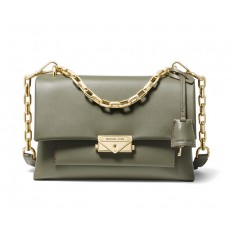 Michael Kors Cece medium leather crossbody kabelka zelená army