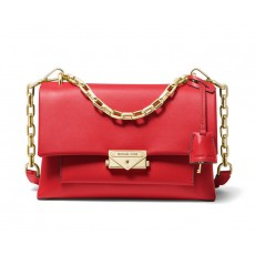 Michael Kors Cece medium leather crossbody kabelka červená bright red