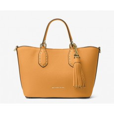 Michael Kors kabelka Brooklyn small leather cider žlutá