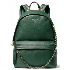 Michael Kors batoh Slater large pebbled leather moss zelený