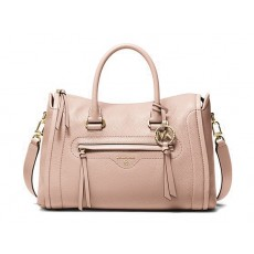 Michael Kors Carine medium pebbled leather kabelka růžová soft pink