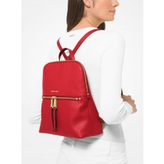 Michael Kors Rhea medium leather slim batoh bright red červený