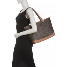 Calvin Klein kabelka Mercy signature top zip brown/acorn