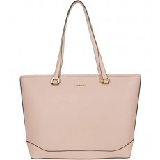 Calvin Klein kabelka Mercy saffiano leather top zip pale rose růžová