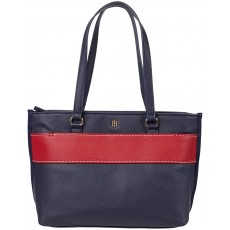Tommy Hilfiger kabelka Blair pebble pvc shopper navy modrá