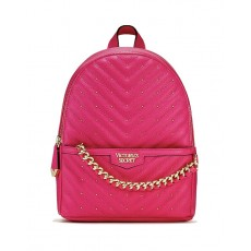 Victoria´s Secret dámský batoh quilt Mini city studded pink