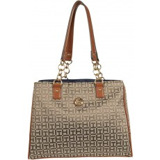Kabelka Tommy Hilfiger In Chains medium tote dark tan