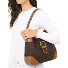 Michael Kors Lillian shoulder bag kabelka logo brown/acorn hnědá