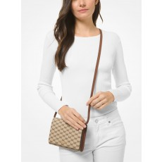Michael Kors kabelka jet set large logo convertible crossbody natural hnědá