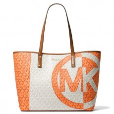 Michael Kors kabelka large logo two tone orange multi