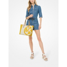 Michael Kors kabelka large logo two tone sun multi