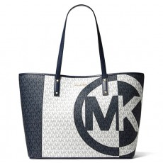 Michael Kors kabelka large logo two tone navy multi